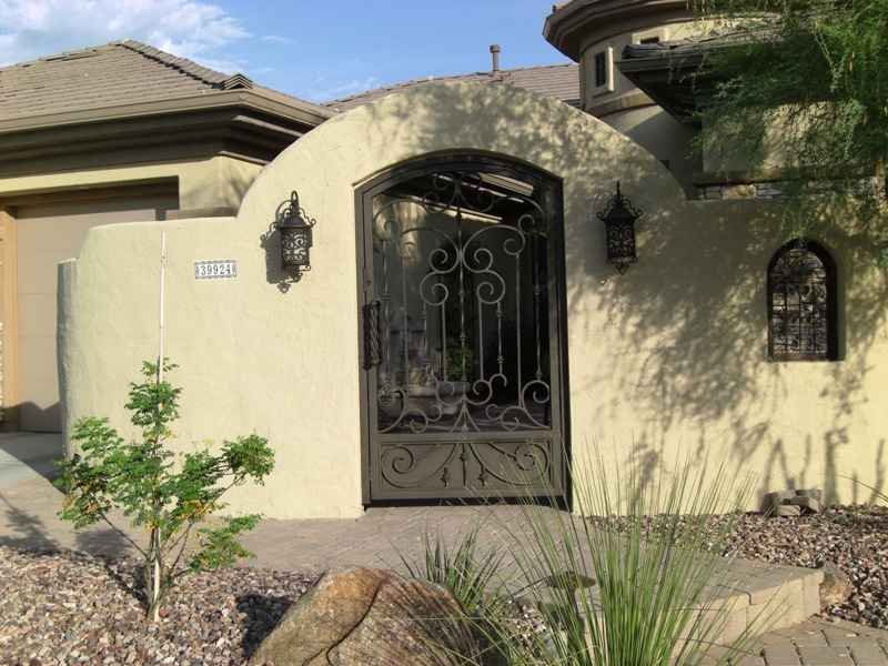 Iron accents are a popular way to improve curb appeal in Chandler and the East Valley